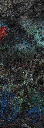 Buco nero profondo Polittico 7 《黑洞深场 八联组 7》 260x120cm Olio su tela 布面油画 2002-2015