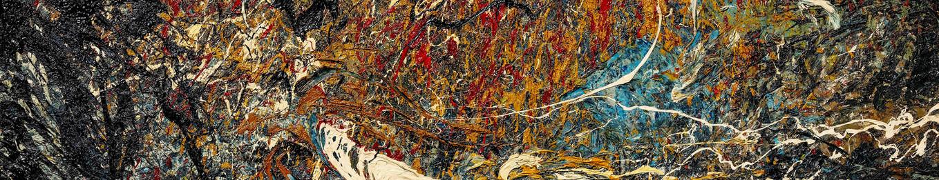 Buco nero profondo B181 《黑洞深场B181》 Olio su tela 布面油画 242x142cm 2013