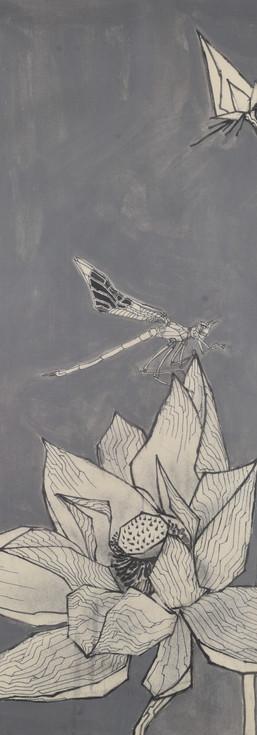 《宁》 Peaceful 纸面素描  Drawing on paper 53x38cm 2020