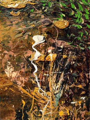 Eco del cielo B153  《天穹回音B153》 Olio su tela 布面油画 120x90cm  2014