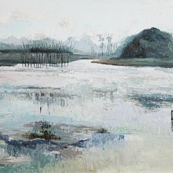 田雁  Yan Tian  Landscape of Gui Zhou 《山水系列》 Oil on canvas  布面油画 60x80cm 2019  Independent artist  Graduated from Sichuan Fine Arts Institute. Lives and works in Sichuan.    毕业于四川美术学院,现为职业艺术家。