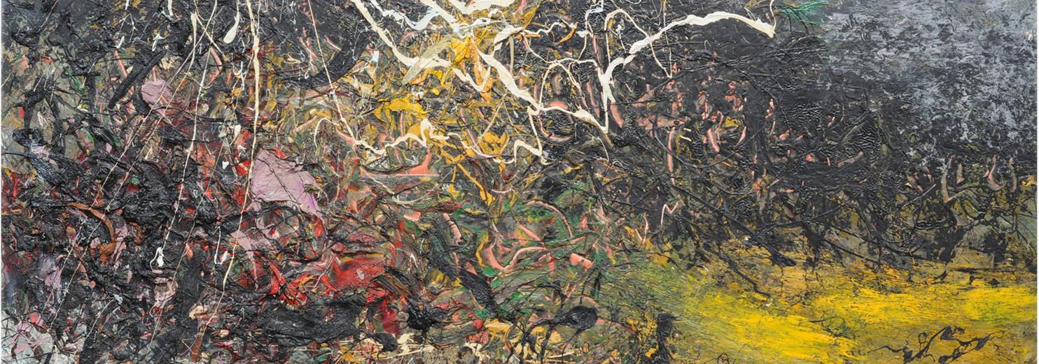 Natura selvaggia e silenziosa B465 《无声野性 B465》 Olio su tela 布面油画 220x120cm 2013