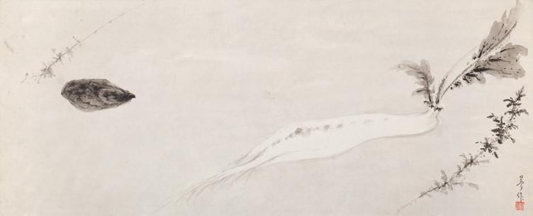 Everyday《家常菜》 Ink on paper 纸本水墨 28x66cm 2019