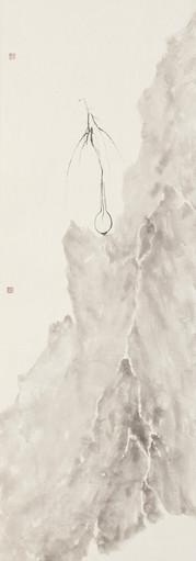Oasis 《净土》 Ink on paper 纸本水墨 33x132cm 2019