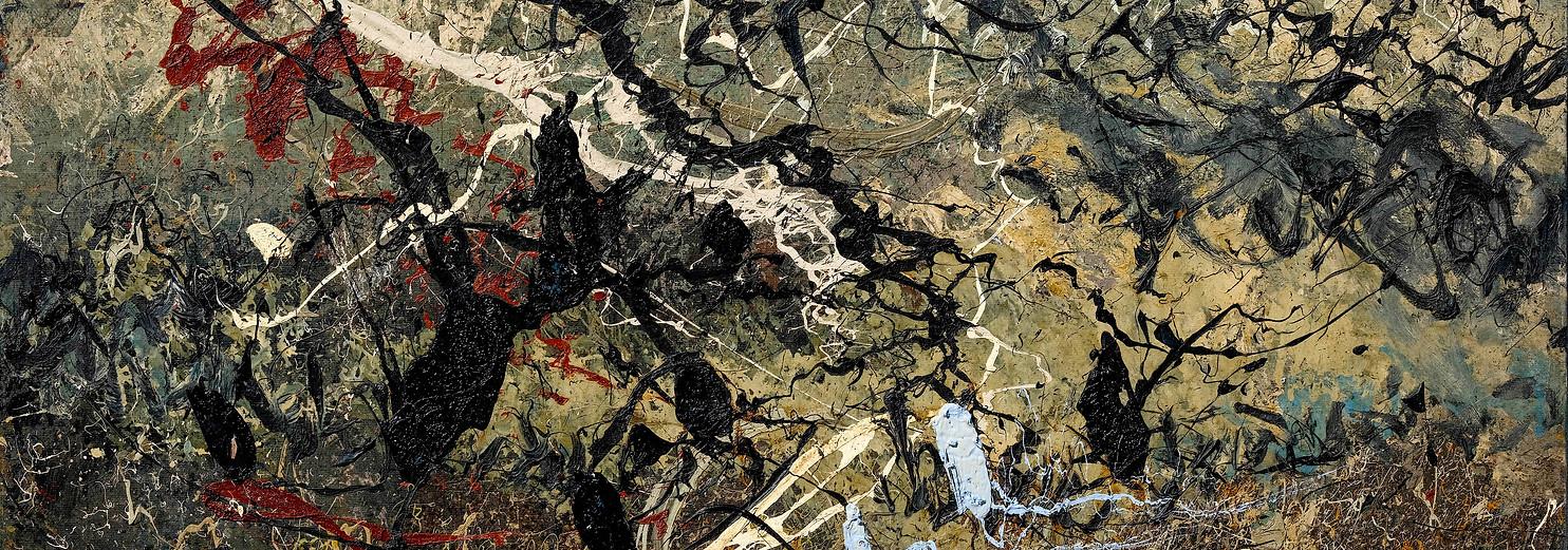 Landa desolata B204 《卷转荒流 B204》 Olio su tela 布面油画 210x132cm 2011