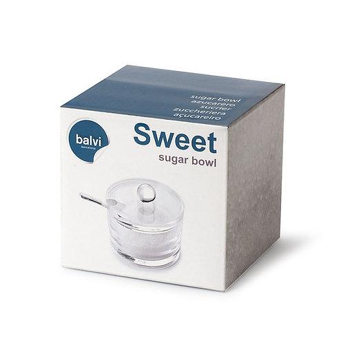 zuccheriera in acrilico tonda