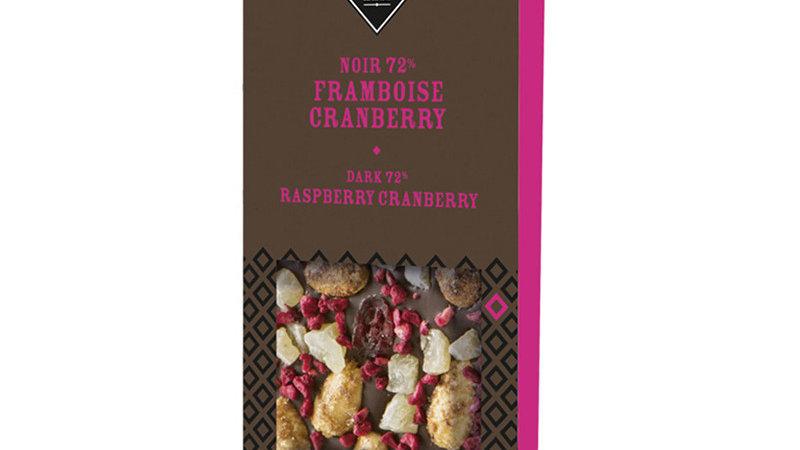 TABLETTE CHOCOLAT NOIR FRAMBOISE 100GRS