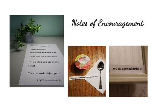 Notes of Encouragement, LifeAndLearning3