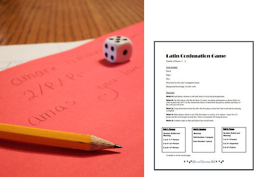 Latin Conjugation Game Image, LifeAndLea
