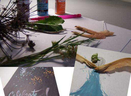 Art Project Using Plants
