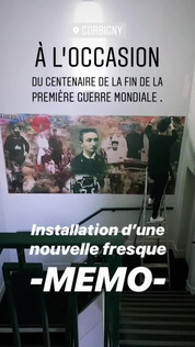Installation fresque MEMO