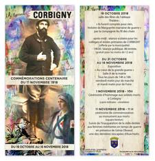 Programme Commémorations centenaire du 11 Novembre 1918.