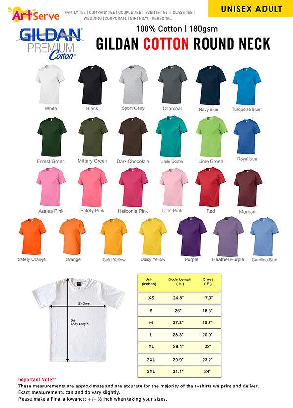 Premium Cotton Regular Gildan Series ( 1