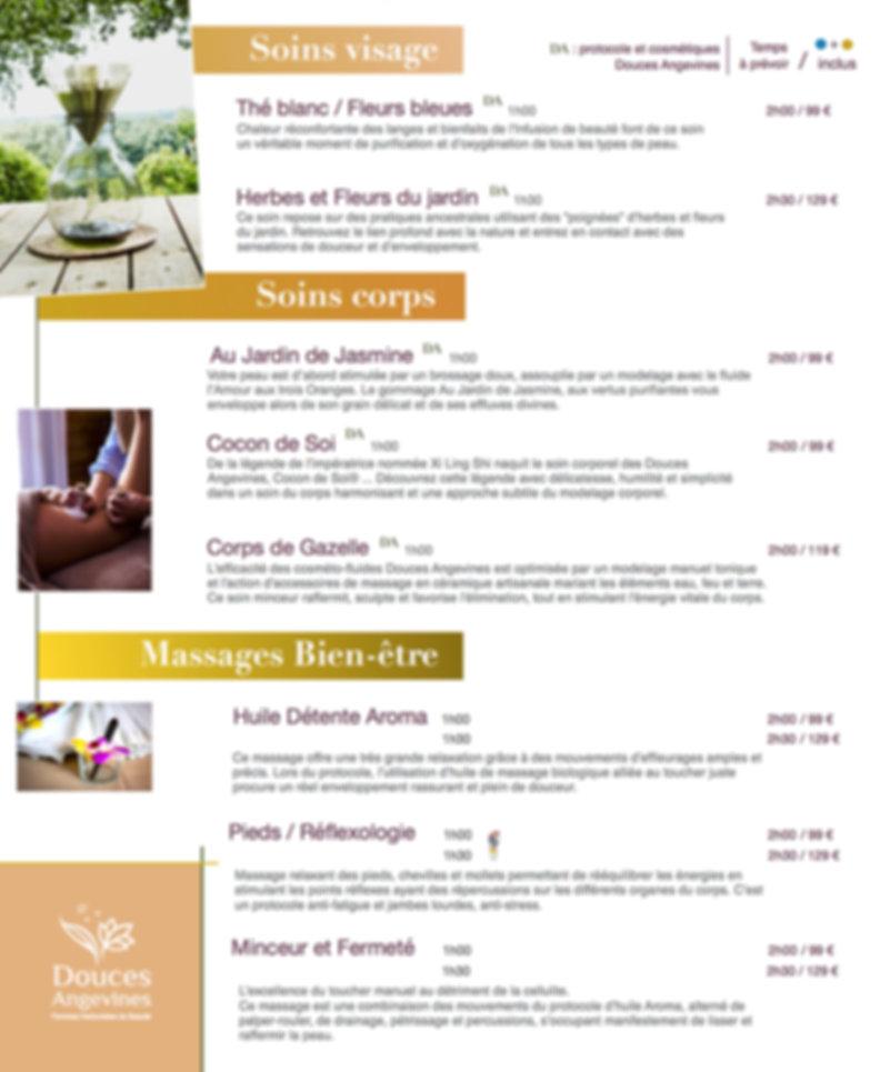Spa-menu 1 Spa Premier