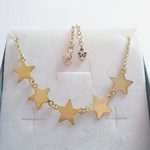 Collana semplice con 5 stelle