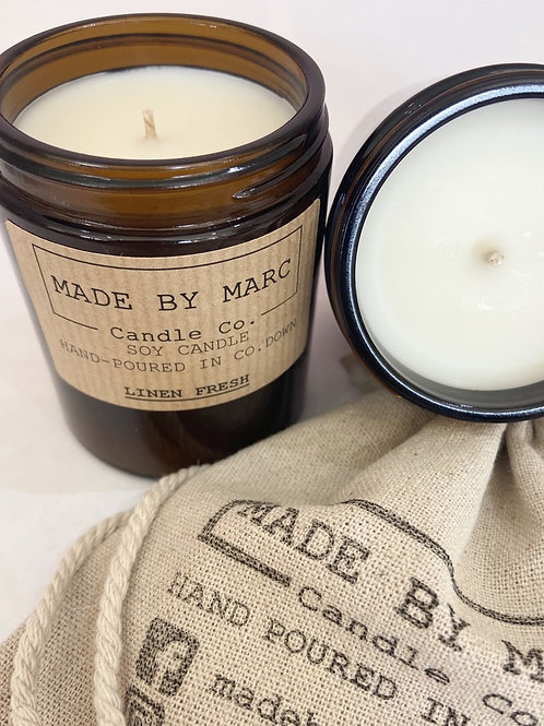 Linen Fresh Single Wick Soy Candle (180ml)