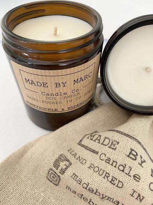 Honeysuckle & Elderflower Single Wick Soy Candle  (180ml)