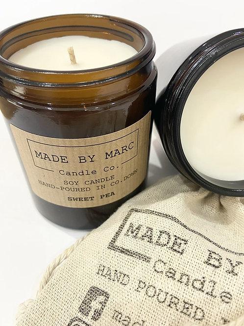 Sweet Pea Single Wick Soy Candle (180ml)