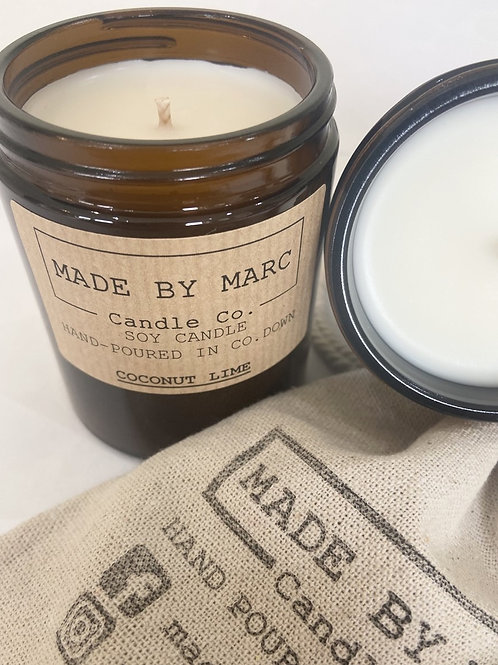 Coconut Lime Single Wick Soy Candle (180ml)
