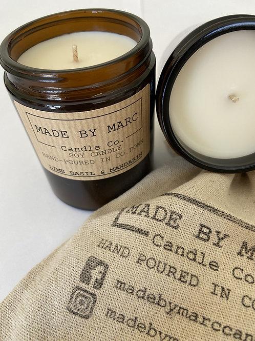 Lime Basil & Mandarin Single Wick Soy Candle (180ml)