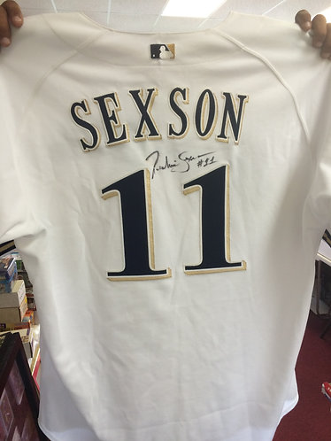 Richie Sexson Game Used Autographed Jersey w/ certification