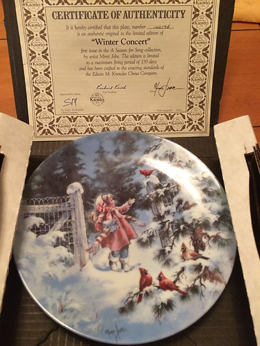Winter Concert - Knowles collectible plate