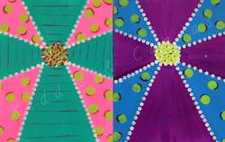 Bubble Cross (Teal, Purple)