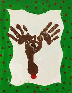 Hand/Footprint Deer