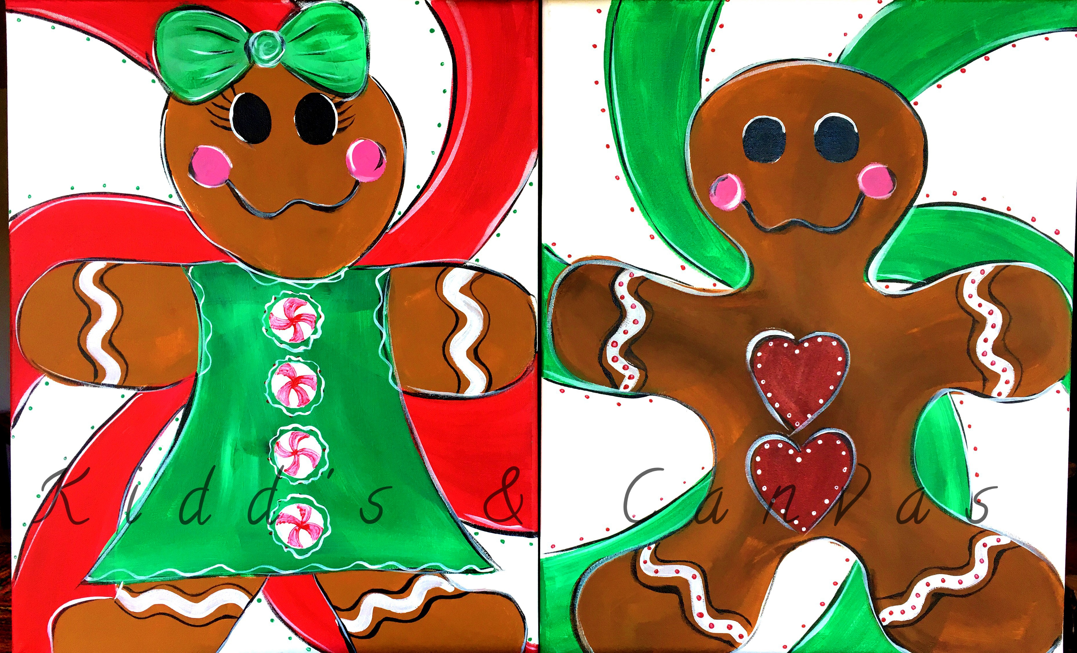 Couples Gingerbread Boy & Girl
