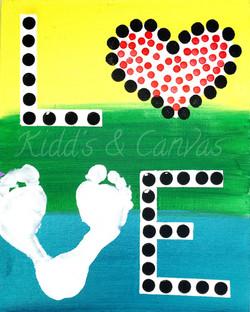 LOVE Foot Print V