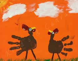Toddler Hand Turkeys