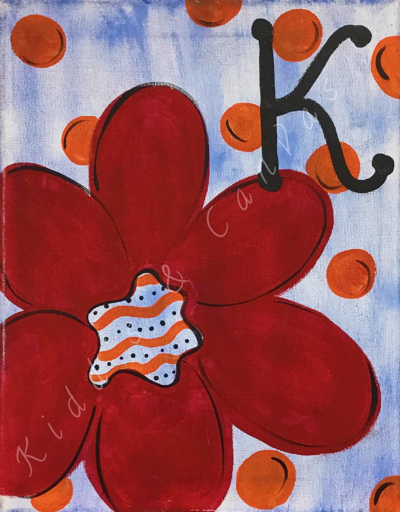 Monogram Flower