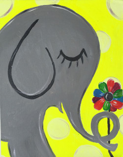 Elephant Yellow Dot