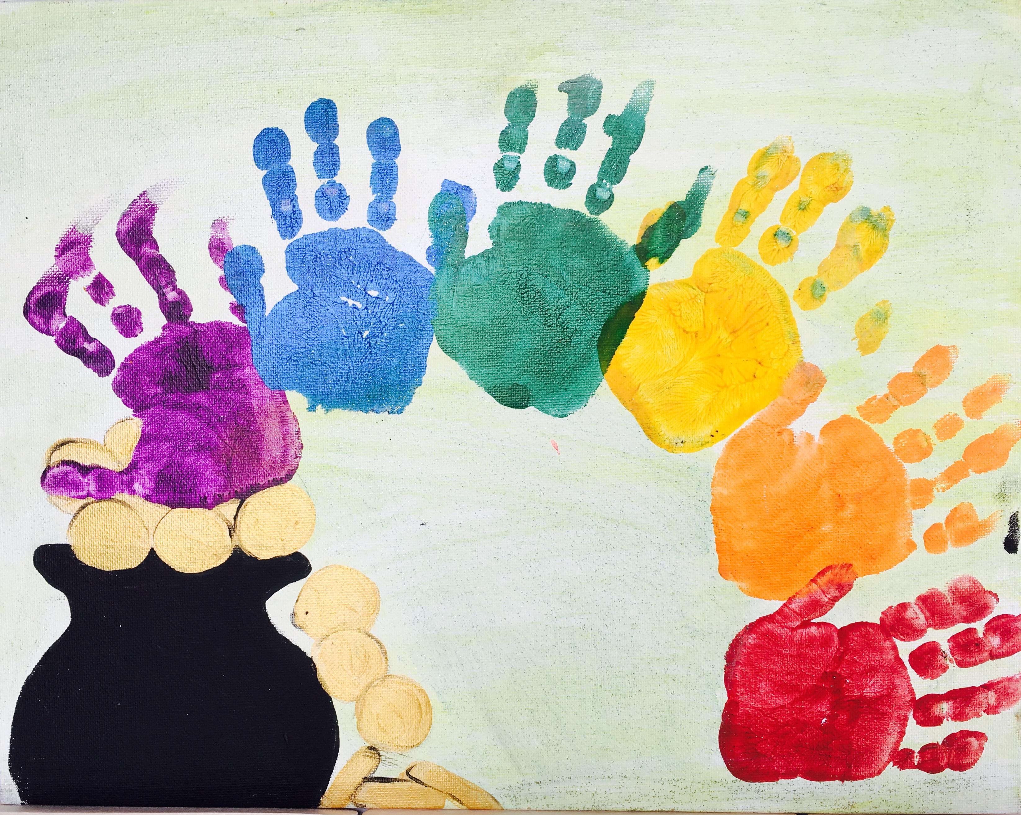Pot Of Gold Handprint Rainbow