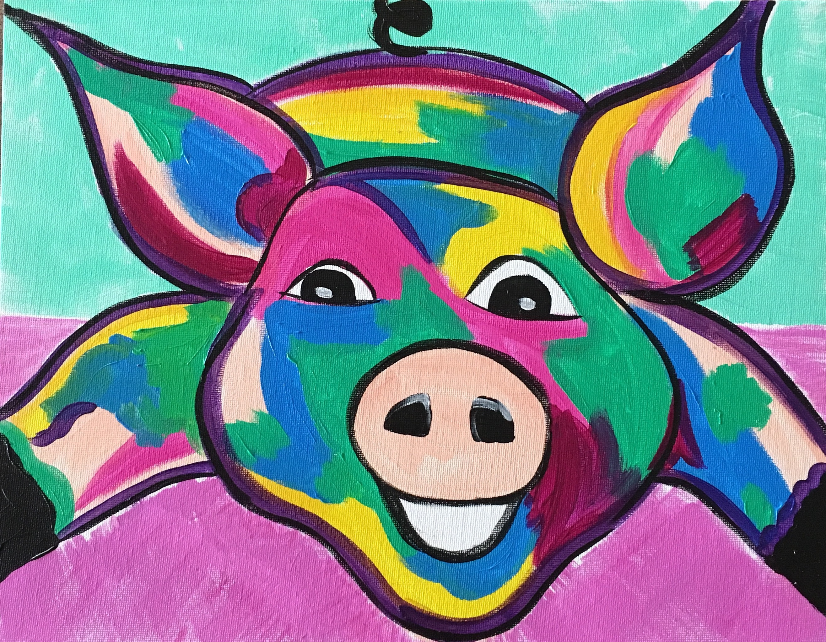Colored Pig