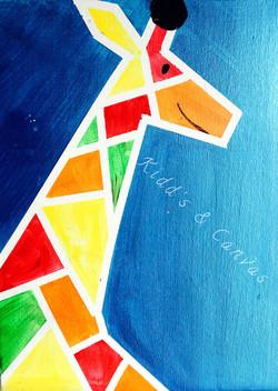 Color block  Giraffe