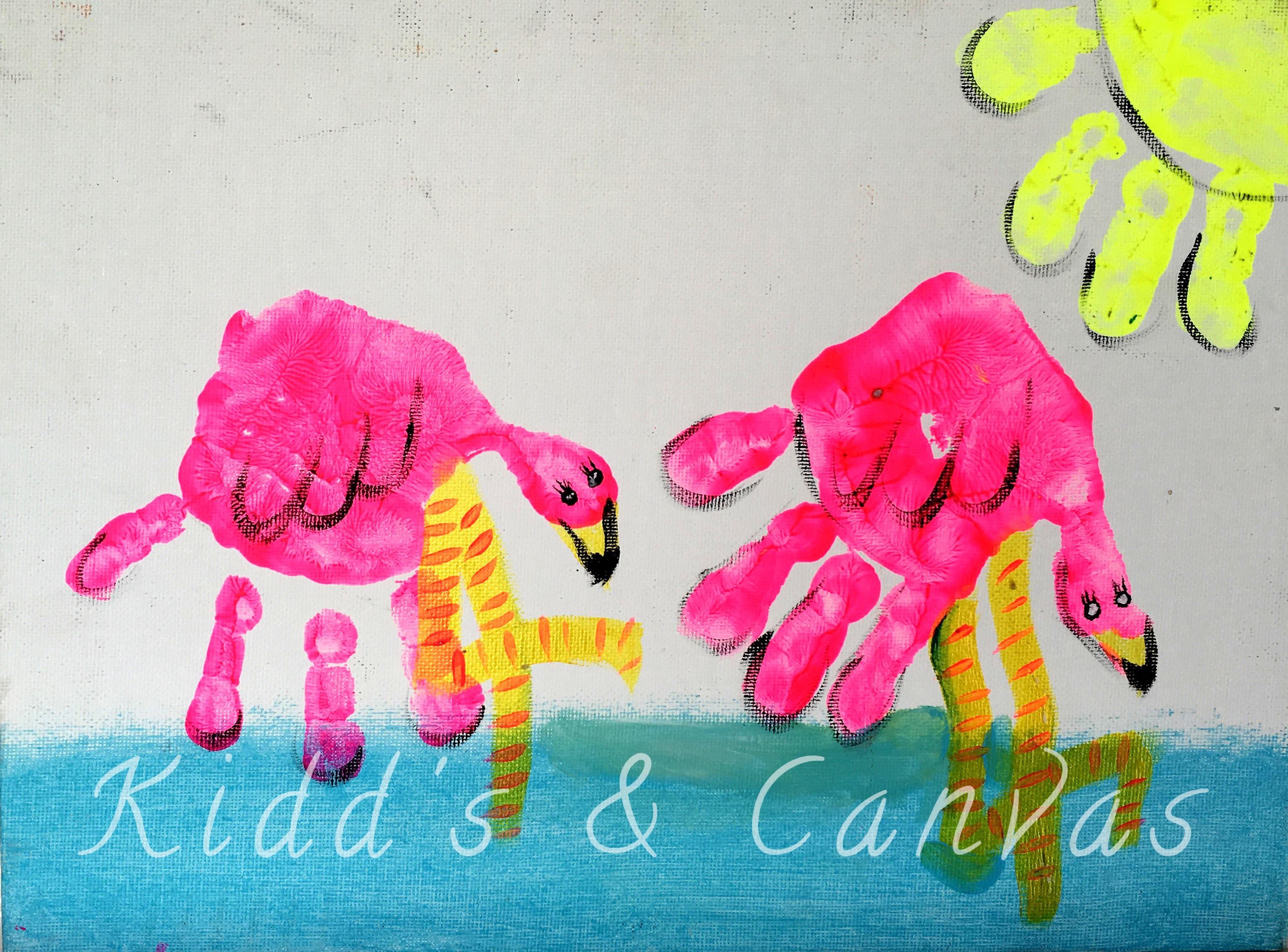 Flamingos (Handprint)