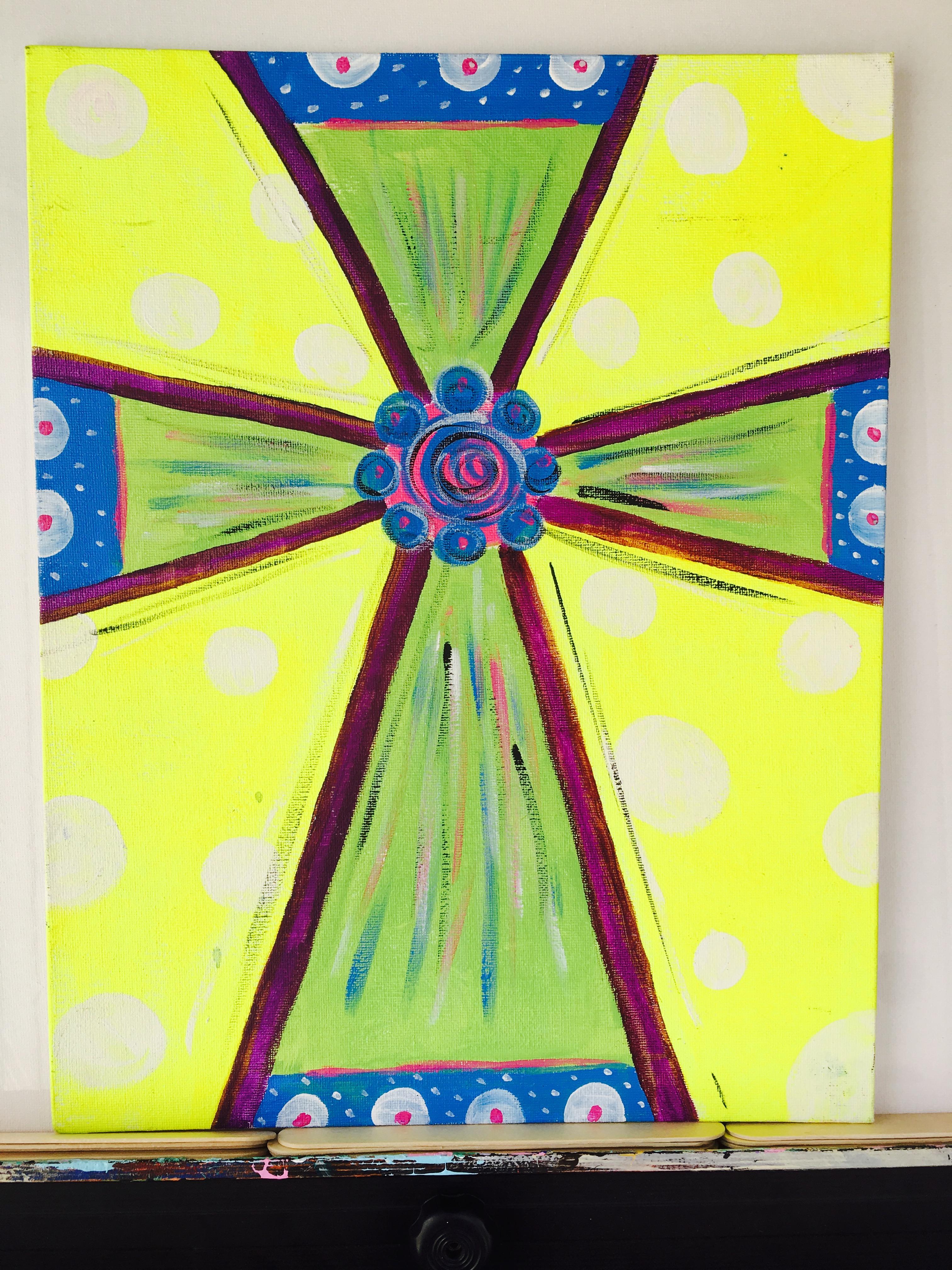 Yellow Jewel Cross