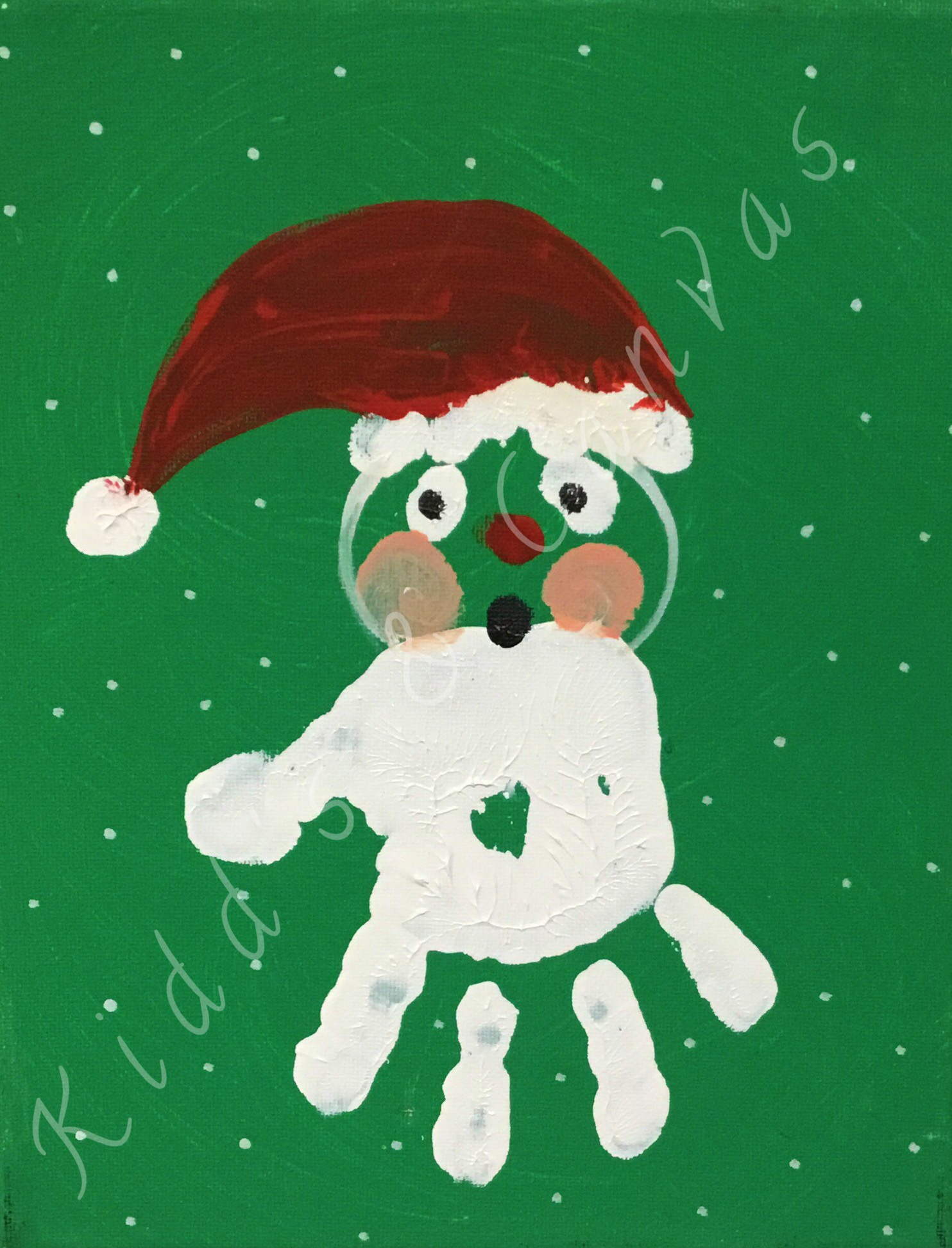 Toddler Hand Santa