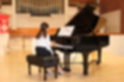 Lana's student playing the Grand Piano in Boca Raton, Florida.
