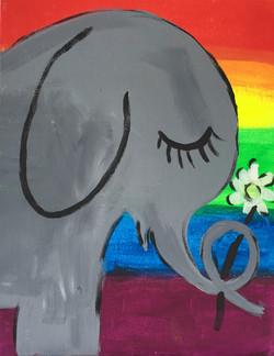 Elephant Rainbow background