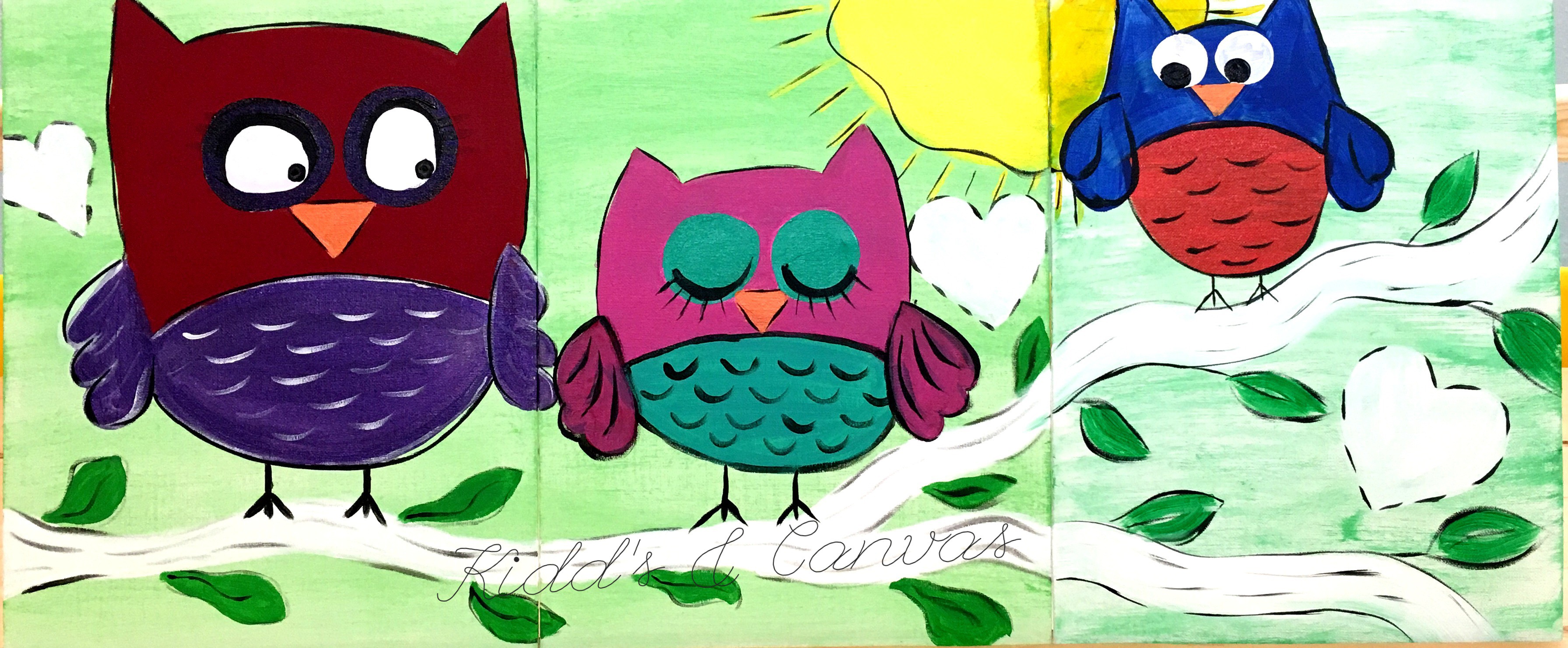 Owl - Family Painting