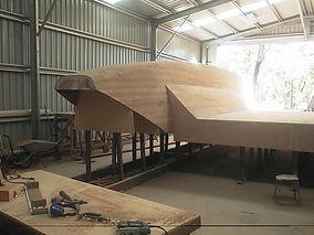 Laminated Catarmaran hull using Purbond