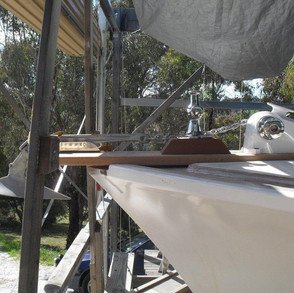 This was the point when the Pelin Sportsfisher really became Phil and Margo's unique customised Challenger. The second cabin disappeared, trunk cabin top added over the focsle and head, saloon cabin lengthened, bought forward and a hold added fore of the engine room. The flybridge was done away with, the saloon roof given a 'duckbill' and lengthened over the cockpit, among the many customisations.