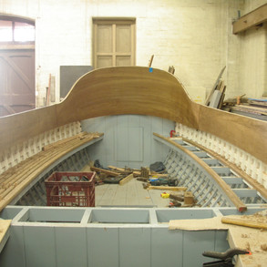 Teak seating slats fitted port side forward.