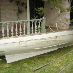 The hull of the Ugly Duckling pre restoration
