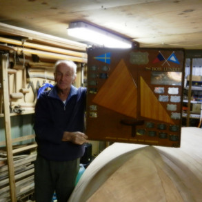 Alf is 81 years young and the latest 10 Foot Skiff is his 75th boat building project. His last 10 Foot Skiff has been the Australian Champion for the last three years (2010-2012). It will be interesting to see what Peter's next boat building project will be.