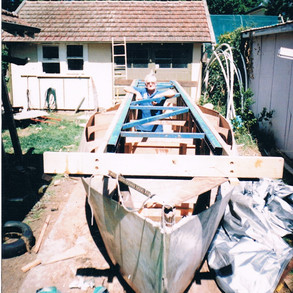 Hull rolled and ready to remove builders frame.