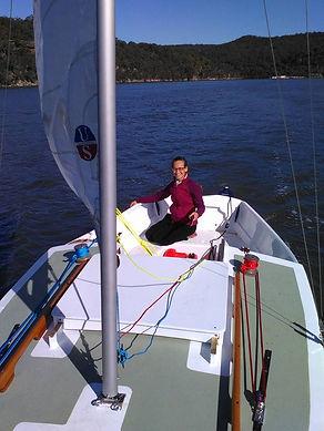 Adrians Starlight Dory Under sail Hawkes