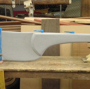 Rudder completed and probably stronger than the original.